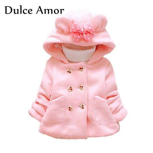 20b1299312b0b Dulce Amor mode filles Minnie vestes bébé fille vêtements d hiver enfant en  bas âge