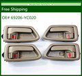 Free Shipping New Interior Door Handle for Toyota Camry Beige Left Right set of 4