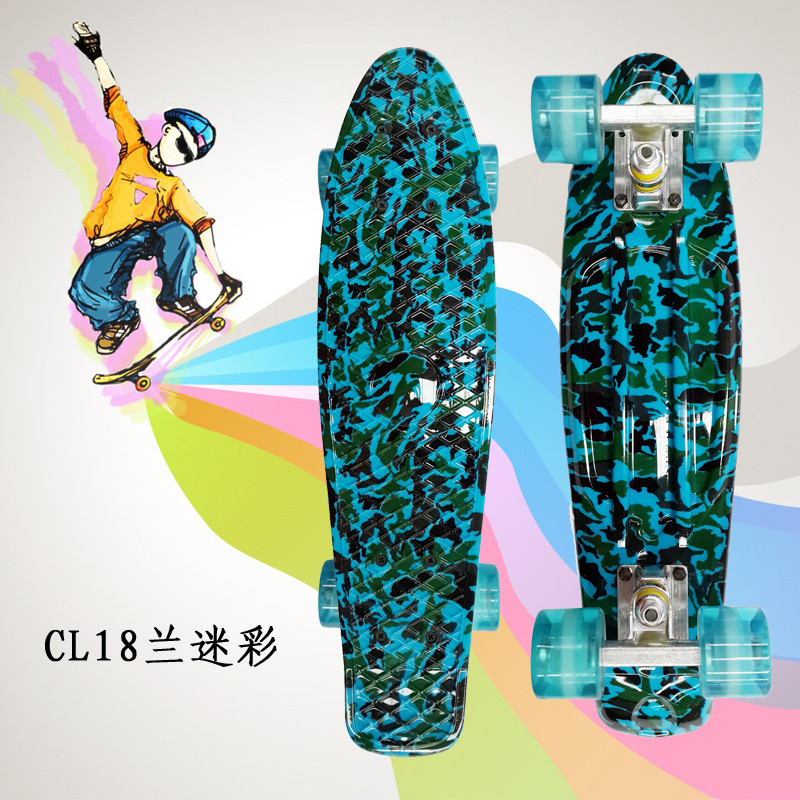 Peny Board 22Plastic Skateboard Boy Girl  Available 2016 new peny board skateboard complete retro girl boy cruiser mini longboard skate fish long board skate wheel pnny board 22