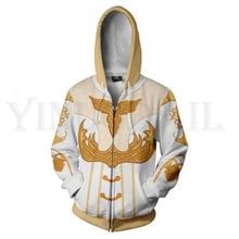Anime Kingdom Hearts Sweatshirts Men and Women Blue Zipper Hoodies Sora 3d Print Hooded Jacket for Boys Harajuku Streetwear
