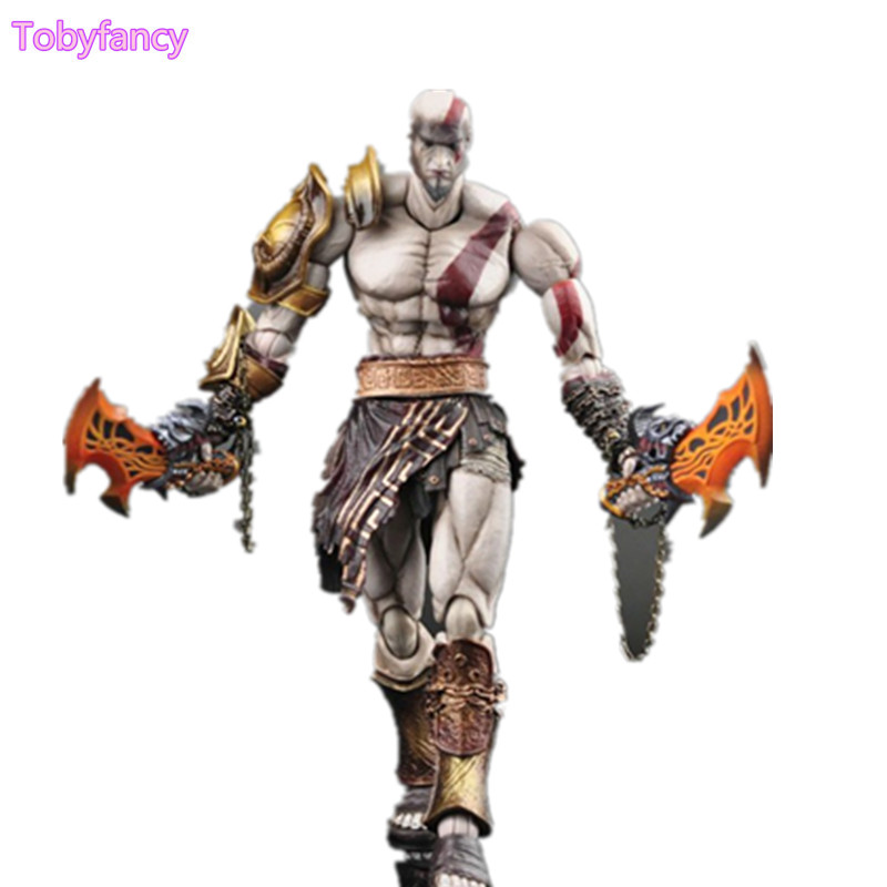 Play Arts Kai GOD OF WAR Kratos Ghost of Sparta PA 26cm PVC Action Figure Anime Game GOD OF WAR Play Arts Kai Toy