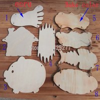 Mixed Size Design 16pcs Bag Wood Blank Tags Indicate Products DIY Tips Label Baby Intellectual
