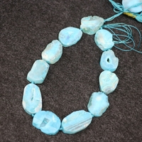 New Aqua Druzy Drusy Gems Stone Necklace Pendaant Beads, Valentine's Day Gifts Crystal Beads, 2017 Freeship Jewelry Making Find