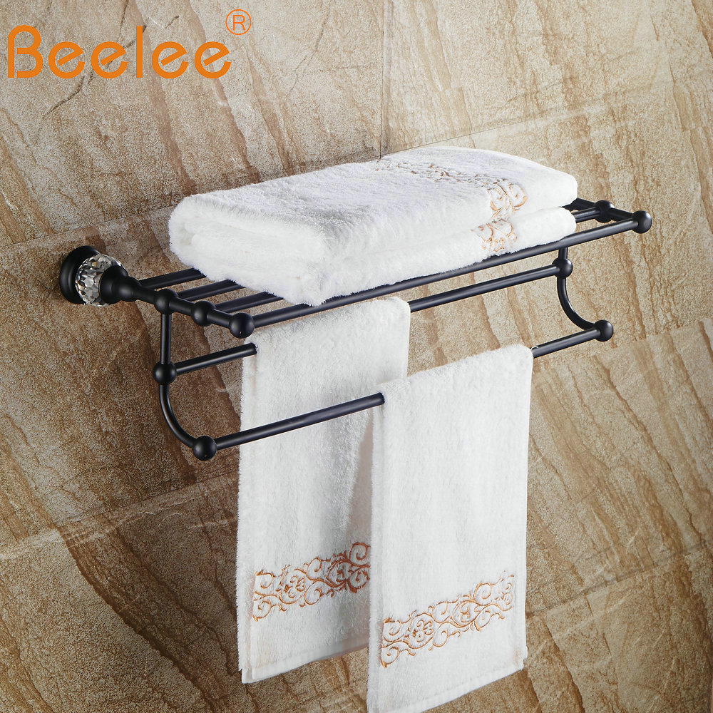 Us 67 45 39 Off Beelee Solid Br Oil Rubbed Bronze Towel Bar Rack Black Wall Mounted Holder Bathroom Accesseries Ba5203b In