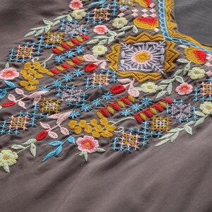 Image 5 - Neueste Trendy Hand Stickerei Blusen High end Boutique Floral Shirts Mode frauen Langarm V ausschnitt Tops Bluse Bestickt