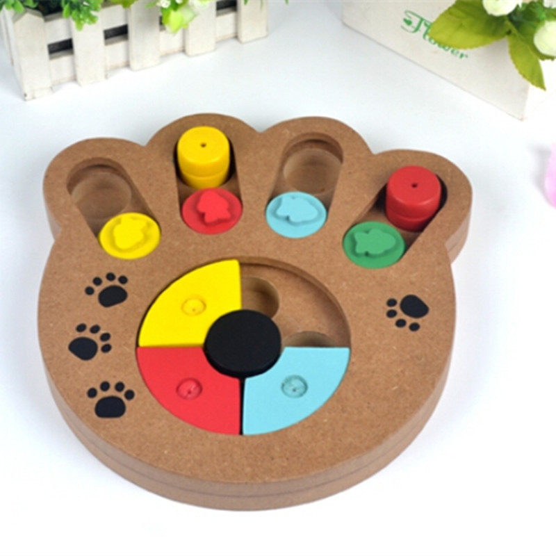 Toys For Dogs : Interactive toys for dogs and cats food treated wooden pet