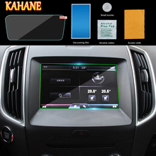 KAHANE Car Styling Center Console LCD Screen Sticker GPS Navigation Screen Tempered Steel Protective Film FOR VW Tiguan MK2