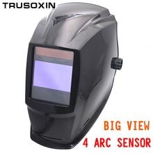 Tools - Welding  - Out Control Big View Eara 4 Arc Sensor Solar Auto Darkening TIG MIG MMA Welding Mask/helmet/welder Cap/welding Lens/face Mask