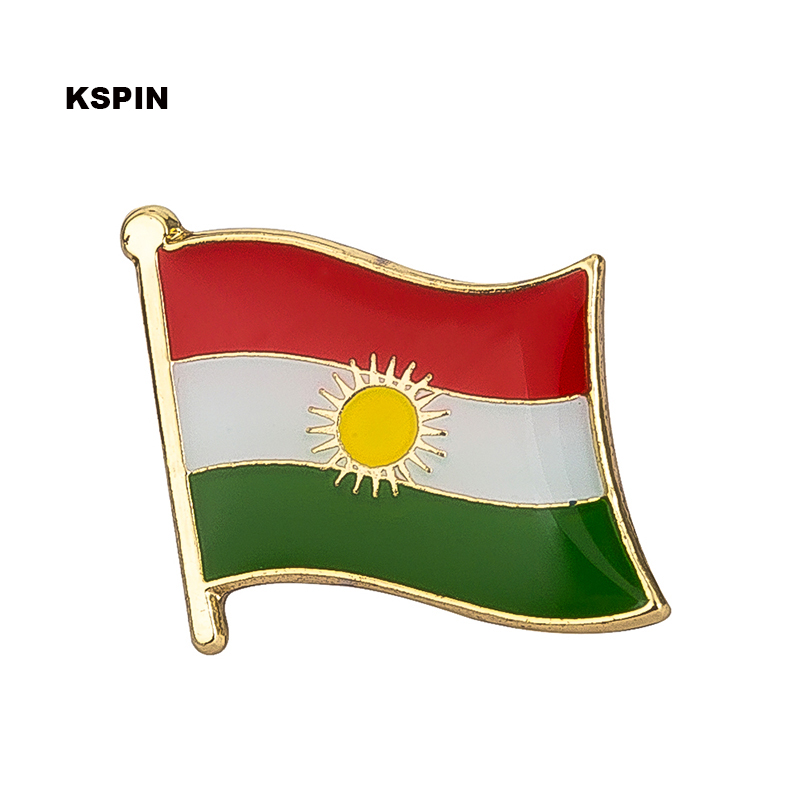 Kurdistan Flag Lapel Pin Badge