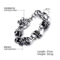 European And American Punk Style Personality Skull Bracelet Jewelry Jewelry Wholesale A Generation Of Fat Small