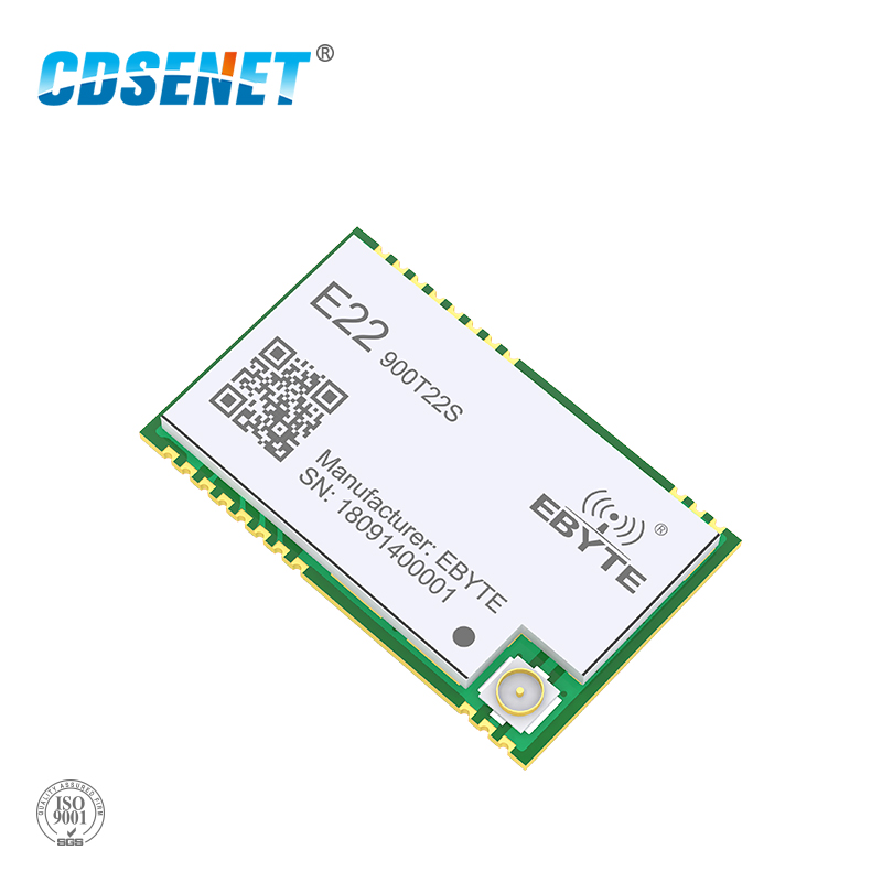 SX1262 UART 868 MHz 915 MHz E22-900T22S LoRa trabajo neto RSSI transceptor inalámbrico 22dBm SMD IPEX sello agujero módulo RF transmisor
