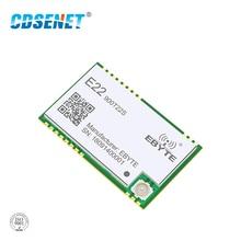 SX1262 UART 868MHz 915MHz E22-900T22S LoRa Net Working RSSI Wireless Transceiver 22dBm SMD IPEX Stamp Hole TCXO RF Module