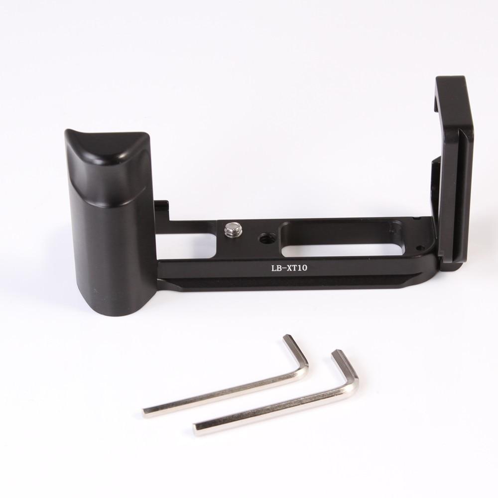 Metal CNC Vertical Shoot Quick Release L Plate Bracket Handle Grip For Fujifilm Fuji XT10 X-T10 Camera