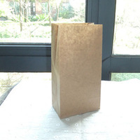 Set Of 10pcs Lot Brown Kraft Paper Bags Recyclable Gift Jewelry Food Bread Candy Packaging Shopping