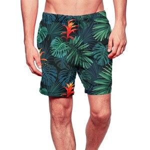 Casual Men Elastic Waist Printed Shorts Swim Trunks Quick Dry Beach Gym Running Swimming Watershort Boardshort Hurley Phantom 10(China)