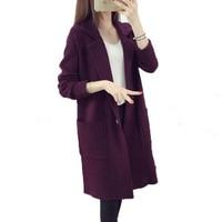 2017 New Winter Women Sweaters Turn Down Collar Knitted Sweaters Outerwear Women Elegant Casual Cardigans Warm