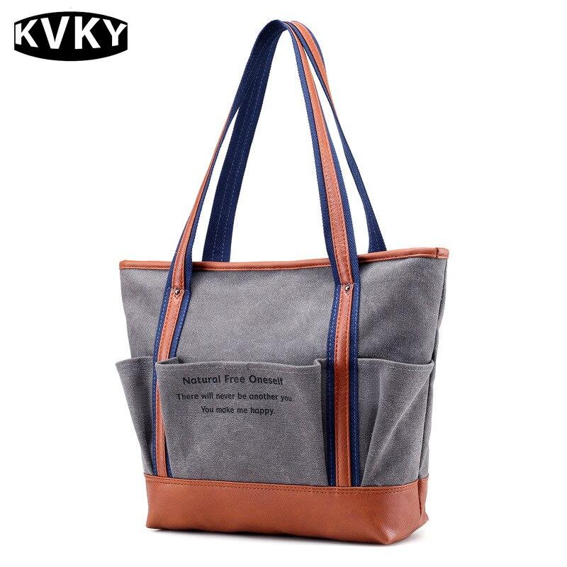 Canvas Handbags Female Shoulder Bags Designer Ladies Tote Bags  Casual Travel Bag