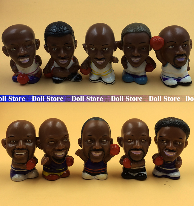 5cm 10PCS/LOT Plastic Q version NBA member action figure set kids toys for boys