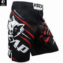 VSZAP Wolf Kick Boxing Shorts Men Women Polyester Plus Size Punching Kicking Taekwondo Kickboxing mma Shorts Trunks muay thai