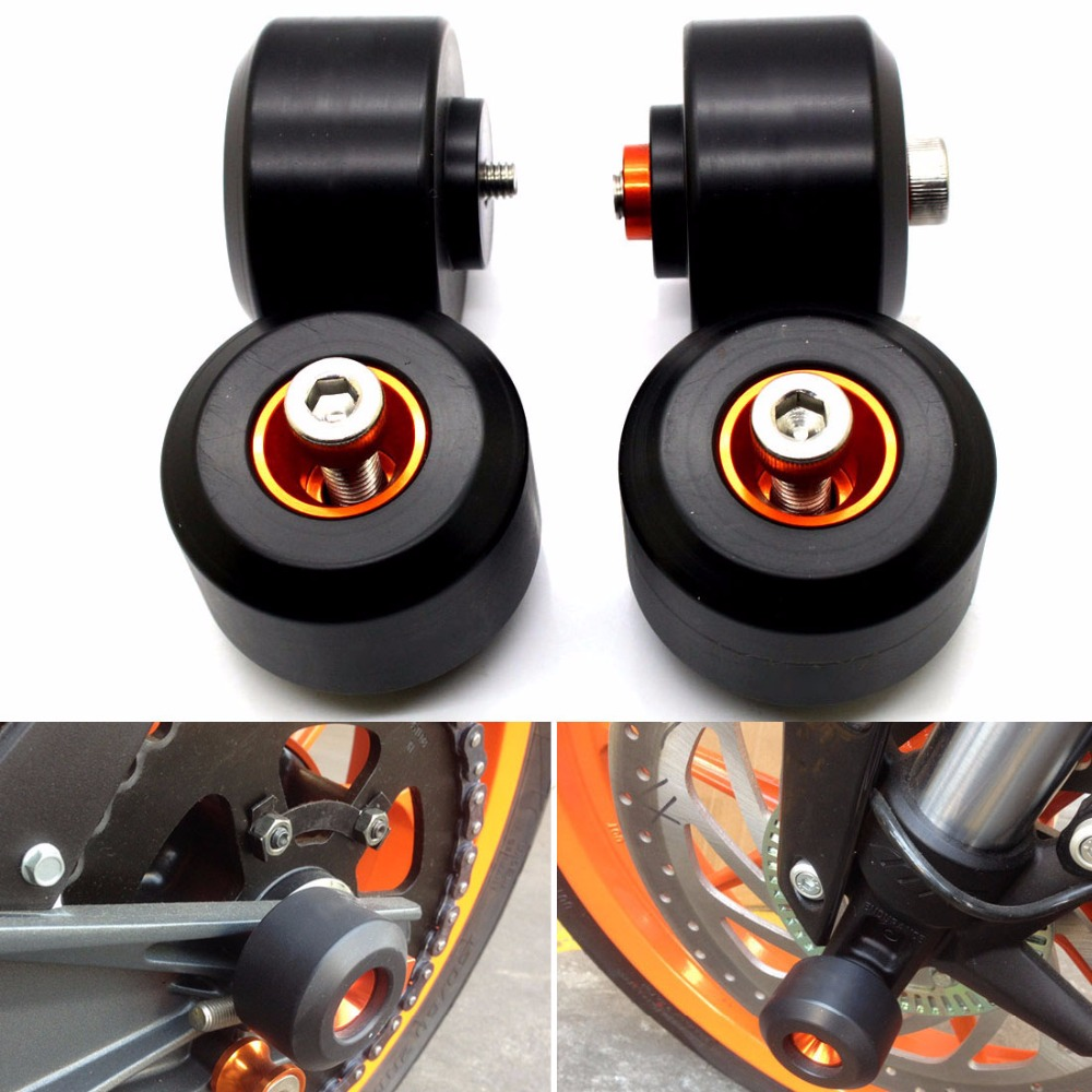 Motorcycle decal stickers Front & Rear Crash Pad WheeL Frame Slider For KTM DUKE125 DUKE200 DUKE390 DUKE 125 DUKE 200 DUKE 390 duke125 duke 200 motorcycle exhaust middle pipe exhaust link pipe motorbike mid pipe for ktm duke125 duke 200 duke 250 duke 390