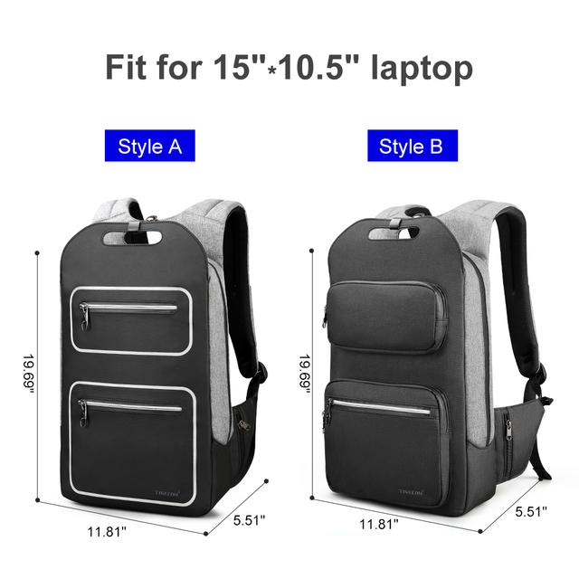 2019 Tigernu Men Backpack Fashion Casual Teenager School bag 15.6 Laptop Backpacks College Student USB Luminous Backpack Women