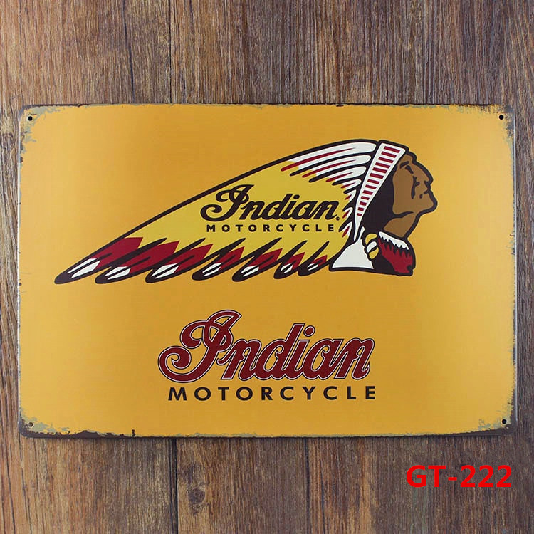 Indian MOTORCYCLE Vintage Metal Posters Retro Mural Painting ...