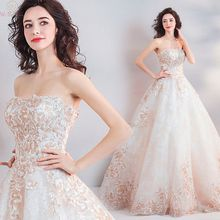 2019 New Elegant Ivory Wedding Dresses Ball Gown Scoop Neck Sleeveless Appliques Simple Lace Up Tulle Bridal vestido de noiva simple v neck boho wedding dresses 2019 ivory lace appliques elegant bridal gowns backless cap sleeves tulle vestido de noiva