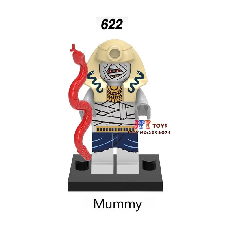 50pcs star wars super heroes marvel dc comics models Mummy building block bricks for Gift children toy brinquedos menina