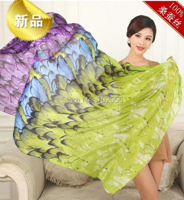 2016 Trendy 100% silk UV protection wrap shawl scarf wholesale Retails Sarongs Hijabs Bandanas womens 13 colors 180*100cm #3791