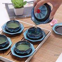 WIZAMONY Chinese Kung Fu Tea set Towl gaiwan teapot teacups trays tea sets Teaware ceramic fot gift puer Drinkware Travel Bag