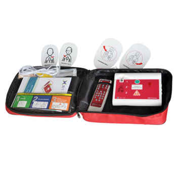 AED Trainer Automated Cardiopulmonary Resuscitation Training Machine With Replaceable Language Card For Emergency + 5pcs CPR