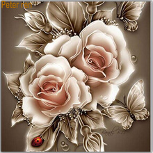Diamond square pattern diamond embroidery roses Sets painting flower for full cross Mosaic pictures 50x50cm