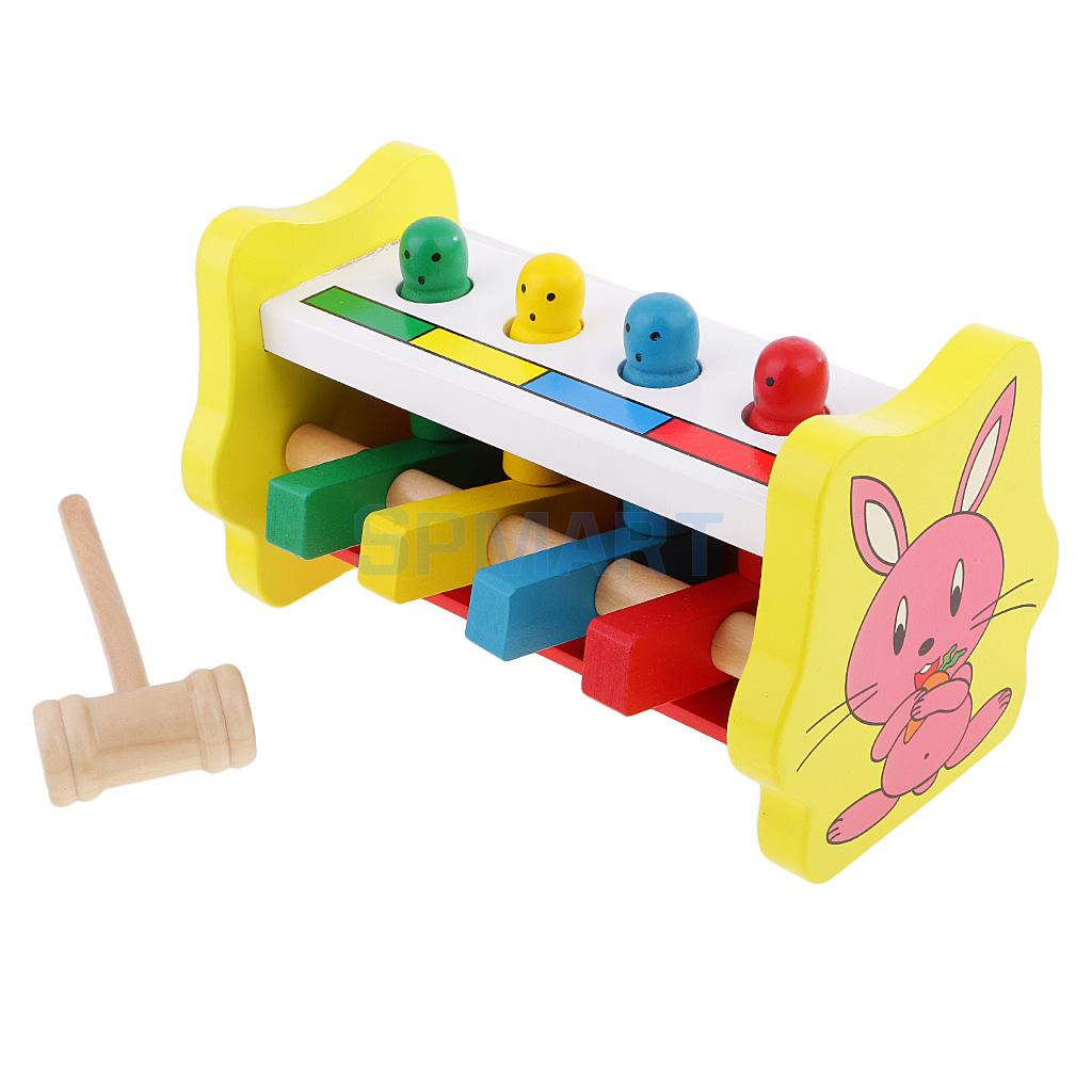 Montessori Knocking Pounding Toy For Kids Toddlers Eye