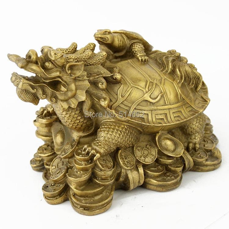 STATUES de tortue Dragon en laiton FengShui