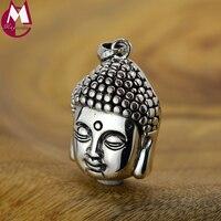 Unique Products 100% 925 Sterling Silver Necklace Pendant For Women Men Thai Style Buddha Sakyamuni Buddha Pendant Jewelry SP55