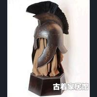 Древний Римский рыцарский шлем носить настоящие COS/Трой Agger/бар украшения, сера