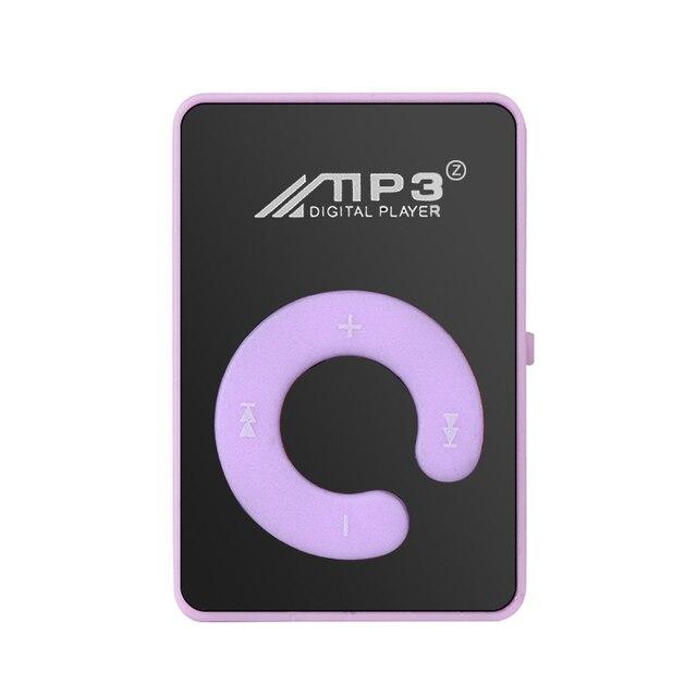 MP3 Player Mini MP3 reproductor de 8 GB TF tarjeta con Cable USB estudiante tarjeta de regalo MP3 Mini portátil Mp3 alta calidad elegante