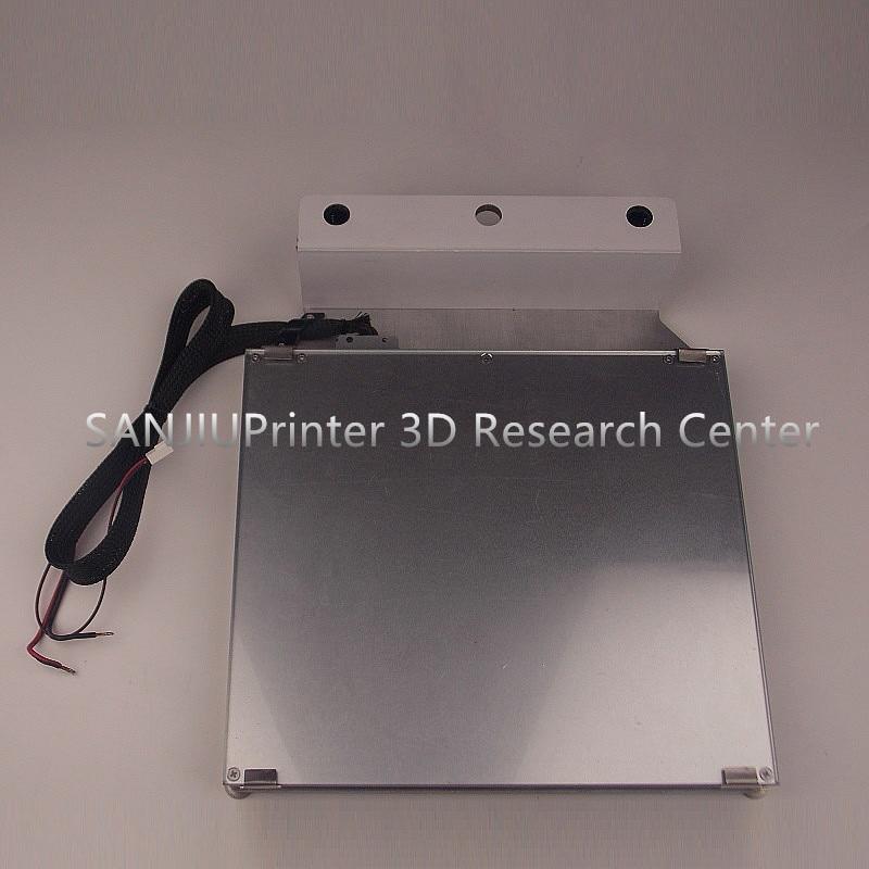 Ultimaker 2 + UM2 Estesa 3D Platform Stampante Kit Riscaldata Bed Vetro Tavolo In Alluminio Tavolo di Stampa Piattaforma di Base Spedizione Gratuita!