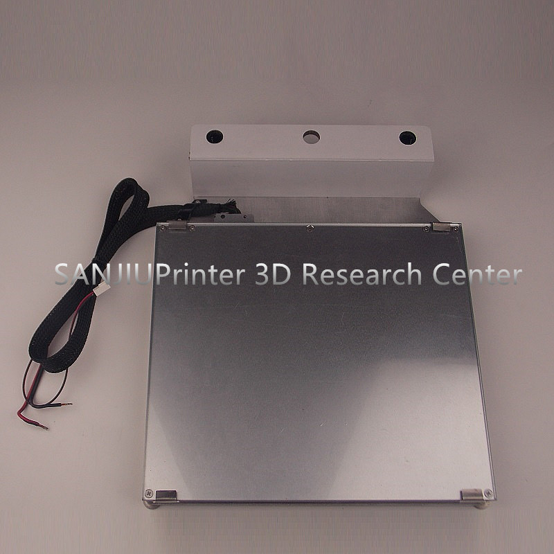 Ultimaker 2+ UM2 Extended 3D Printer Platform Kit Heated Bed Table Glass Aluminum Print Table Base Platform Free Shipping!-in 3D Printer Parts & Accessories from Computer & Office    1