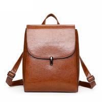 2017 Fashion Woman Backpack Leather Female Backpacks High Quality Schoolbag Backpack Elegant