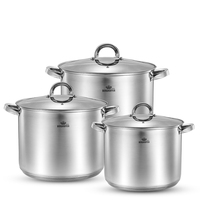 1PC Casserole Cooking Pot Stainless Steel #304 Deep Soup Pot Induction Cooker Thickened Commercial Cooker 8L 10L 12L