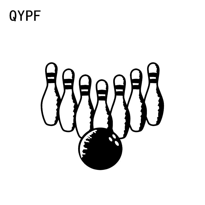Car Stickers Qypf 14*10.8cm Coolest Bowling Car Styling Stickers Silhouette Accessories Motorcycle C16-1294 Exterior Accessories