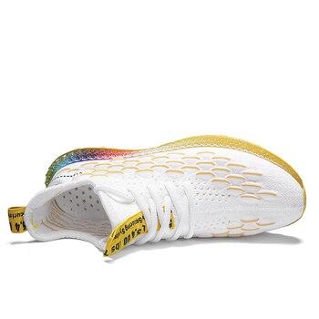 Zapatos De La Fuerza Aérea | 2019 Verano 4D Imprimir Hombres Zapatillas De Correr Wome Transpirable Fly Weave Air Mesh Zapatillas Calzado Mujer Air 350