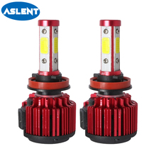 ASLENT hb4 hb3 led bulbs H4 H7 H11 H8 H9 9005 9006 9007 9004 Turbo LED Auto lamp for Car light 100W 12000LM 6500K White 12v 24v