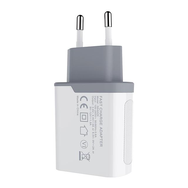 Nillkin 急速充電 3.0 電話 USB 充電器 3A 急速充電器 EU 旅行充電器 USB ウォール電話の充電器 iphone ため xiaomi