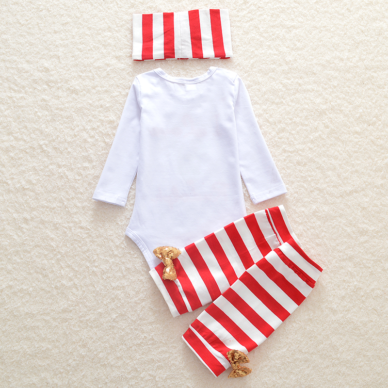 67faeff49 3 pieces set. Newborn girls clothes set CHRISTMAS GIFT Dress Girl Overalls  Row Leg warmers and headband Clothing Attire Sets Tags: