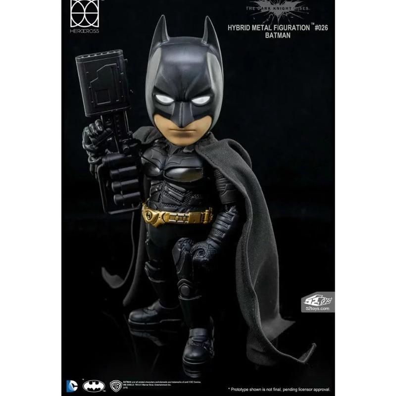 DC Comics The Dark Knight Rises Batman Hybrid Metal Figuration #026 Batman with LED Light Action Figure Collectible Model ToyDC Comics The Dark Knight Rises Batman Hybrid Metal Figuration #026 Batman with LED Light Action Figure Collectible Model Toy