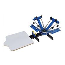 Shipp libre de dhl 4 colores 1 estación de la máquina de impresión de pantalla de seda camiseta de equipo de prensa impresora carrusel de área de impresión 40*50 CM