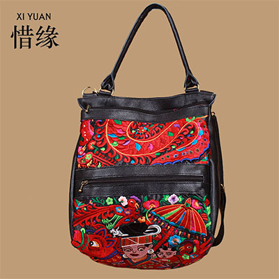 XIYUAN BRAND luxury women genuine leather tote bag female floral prints shoulder Crossbody bags ladies handbags messenger bag  brand women s handbags genuine leather bag ladies women messenger bags shoulder bag female tote alligator bag have ribbons me582