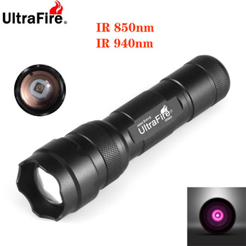 UltraFire Zoomable 18650 IR night vision flashlight 5W850nm 10W940nm LED  infrared radiation tactical flashlight hunting torch ultrafire wf 502d 3w flashlight with clip 2x18650 2x17670